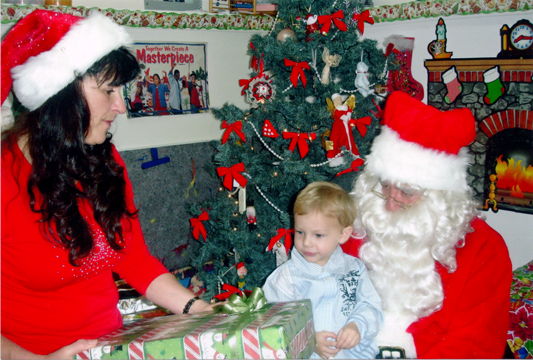 Child with Gail and Santa